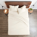 Good Kind Premium Double-Brushed 3pc Duvet Cover Set // Ivory (Twin)