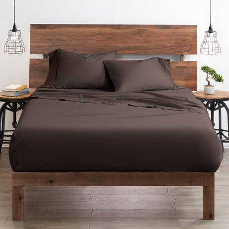 Good Kind Premium Double-Brushed Duvet Cover Set // Chocolate (Twin)