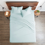 Good Kind  Essential 6 Piece Bed Sheet Set // Aqua (Twin)