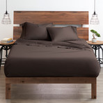 Good Kind  Essential 6 Piece Bed Sheet Set // Chocolate (Twin)