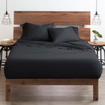 Good Kind Essential 6 Piece Bed Sheet Set // Black (Twin)