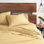 Good Kind Essential 4 Piece Bed Sheet Set // Gold (Twin)