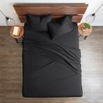 Good Kind Premium Double-Brushed Duvet Cover Set // Black (Twin)