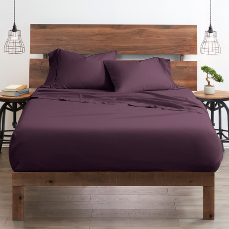 Good Kind Essential 6 Piece Bed Sheet Set // Purple (Twin)
