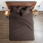 Good Kind Essential 4 Piece Bed Sheet Set // Chocolate (Twin)