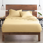 Good Kind Essential 6 Piece Bed Sheet Set // Gold (Twin)