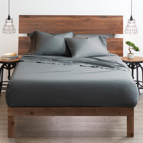 Good Kind  Essential 4 Piece Bed Sheet Set // Gray (Twin)