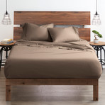 Good Kind  Essential 6 Piece Bed Sheet Set // Taupe (Twin)
