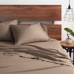Good Kind  Essential 4 Piece Bed Sheet Set // Taupe (Twin)