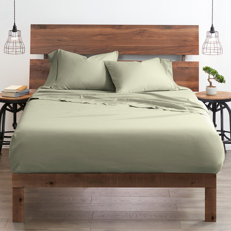 Good Kind  Essential 6 Piece Bed Sheet Set // Sage (Twin)