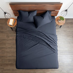 Good Kind Essential 6 Piece Bed Sheet Set // Navy (Twin)