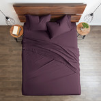 Good Kind Premium Double-Brushed Duvet Cover Set // Purple (Twin)