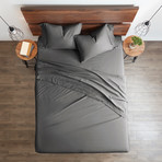Good Kind Essential 6 Piece Bed Sheet Set // Gray (Twin)
