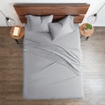 Good Kind Essential 4 Piece Bed Sheet Set // Light Gray (Twin)