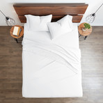 Good Kind Essential 6 Piece Bed Sheet Set // White (Twin)