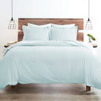Good Kind Premium Double-Brushed 3pc Duvet Cover Set // Aqua (Twin)