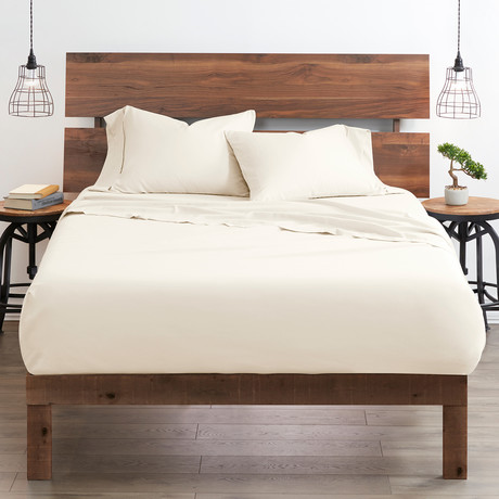 Good Kind Essential 4 Piece Bed Sheet Set // Ivory (Twin)