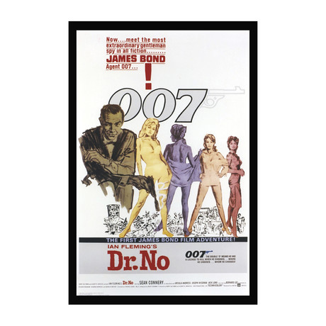Vintage Framed Movie Poster // Sean Connery as James Bond 007