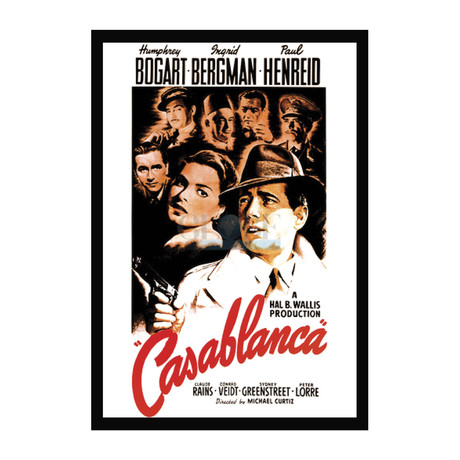 Vintage Movie Poster // Casablanca // Ver. II