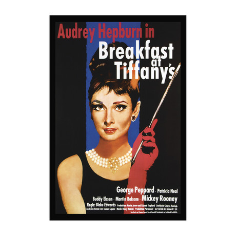 Breakfast at Tiffany's Vintage Movie Poster // Ver. I