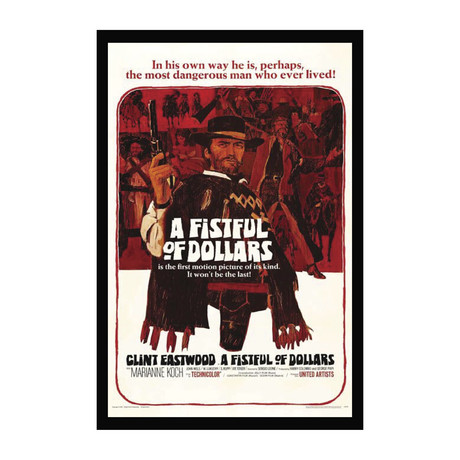 Vintage Movie Poster // A Fistful of Dollars