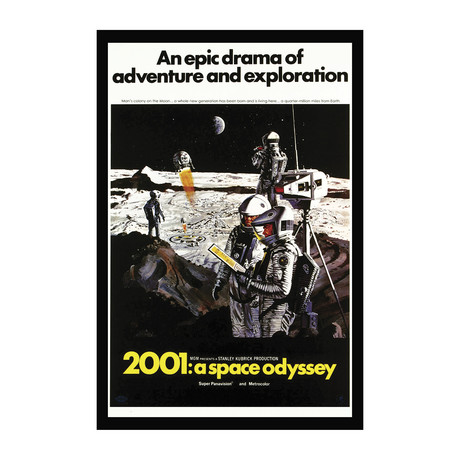 Vintage Movie Poster // 2001 A Space Odyssey // Ver. I