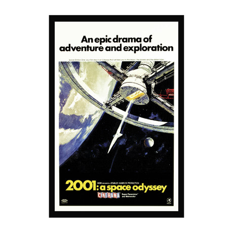 Vintage Movie Poster // 2001 A Space Odyssey // Ver. II
