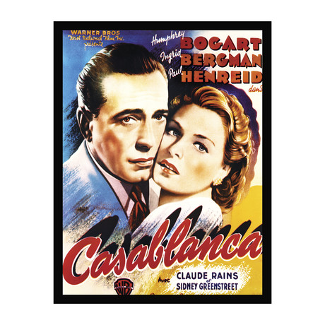 Vintage Movie Poster // Casablanca // Ver. I