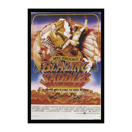 Vintage Movie Poster // Blazing Saddle