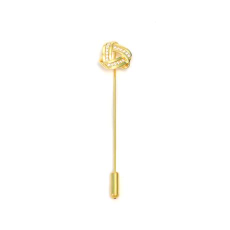Endless Knot Lapel Pin (Gold II)