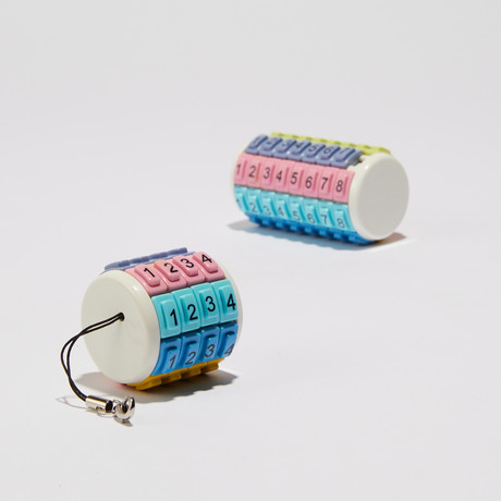 Eni Mini Puzzle Bundle // Pastel Colors numbered Mini + Keychain