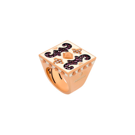 Nouvelle Bague 18k Rose Gold Multi-Stone Ring // Ring Size: 7.5