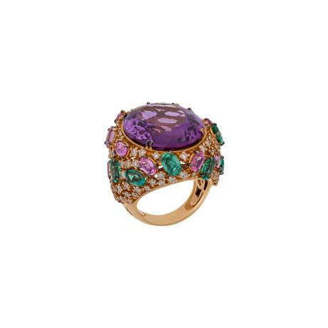 Stefan Hafner Pianeti 18k Rose Gold Multi-Stone Ring // Ring Size: 7