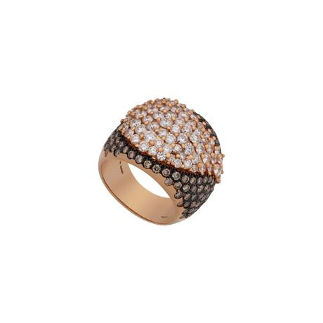 Stefan Hafner Ibis 18k Rose Gold Diamond Ring // Ring Size: 7