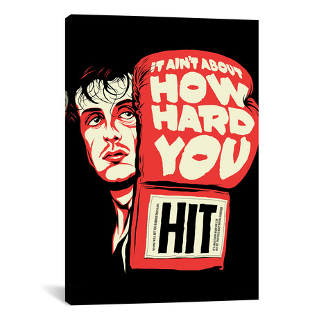 """How Hard You Hit (12""""W x 18""""H x 0.75""""D)"""