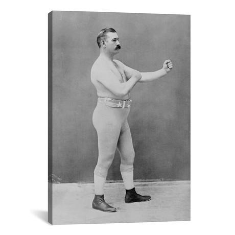 """Boxing Champion John L. Sullivan // Unknown Artist (18""""W x 26""""H x 0.75""""D)"""