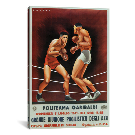 Boxing, Italian 1941 by Vintage Apple Collection