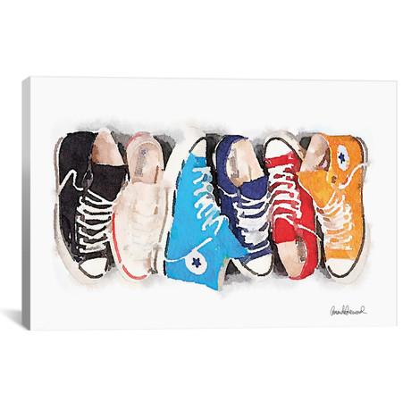 "Sneaker Line // Amanda Greenwood (26""W x 18""H x 0.75""D)"