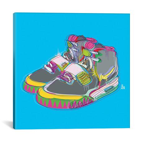 "Nike Air Yeezy 2's // TECHNODROME1 (18""W x 18""H x 0.75""D)"