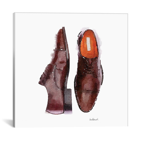 "Men's Brown Shoes, Square // Amanda Greenwood (18""W x 18""H x 0.75""D)"