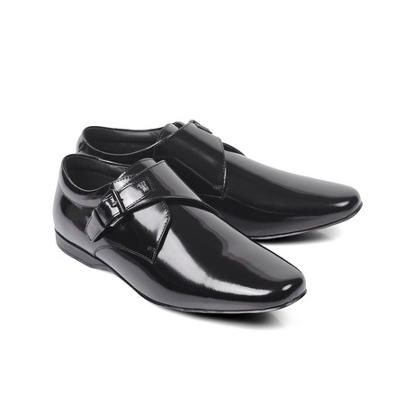 Versace Collection // Patent Point Toe Single Monk // Black (Euro: 39)
