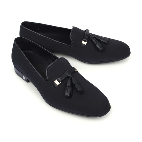 Tassel Shoe // Black + Nickel (Euro: 39)