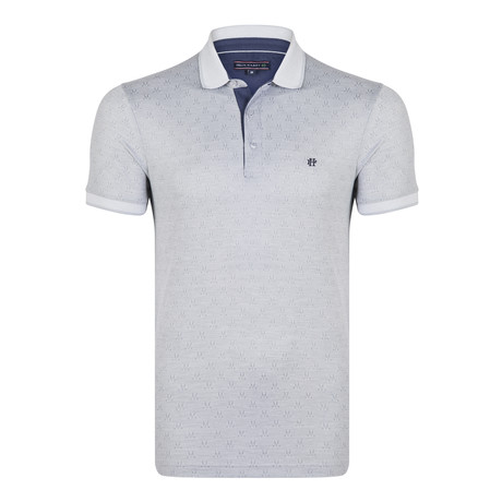 Darren SS Polo Shirt // Gray + White (XS)