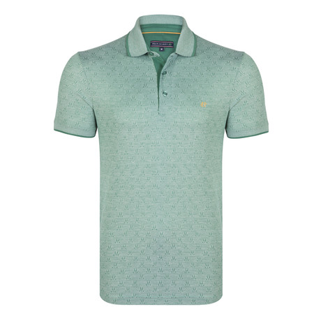 Harrison SS Polo Shirt // Green + White (XS)