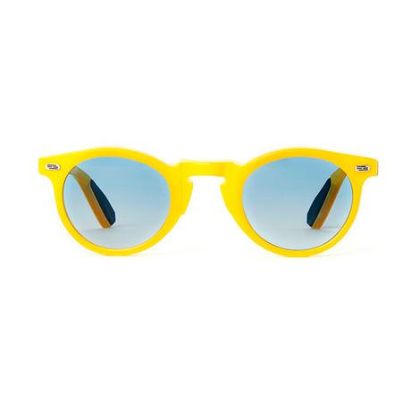 Laudo Collection Volta // Crystal Honey + Light Blue Gradient Lenses