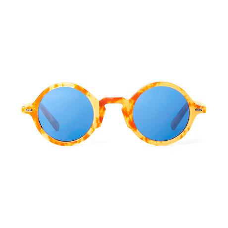 Impossible Collection 215R // Light Havana + Blue Lenses