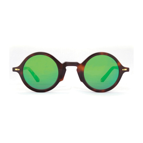 Impossible Collection 215R Unisex Sunglasses // Dark Havana + Flash Green