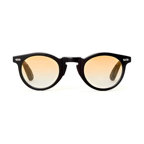 Laudo Collection Volta // Black + Light Yellow Gradient Lenses