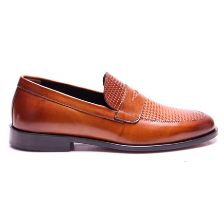 Textured Penny Loafer // Tobacco (Euro: 40)