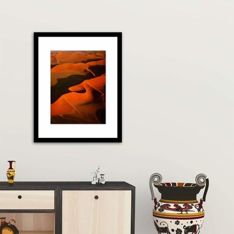 """Sunrise Over The Sahara Framed Wall Art (12""""W x 16""""H x 1""""D)"""